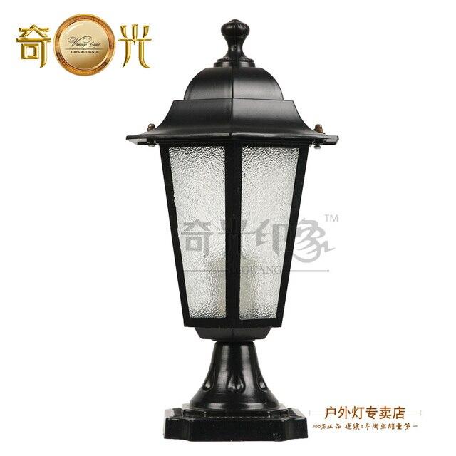 Waterproof outdoor lamp post column head fashion wall light wall ...