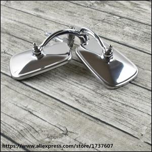 Image 4 - Universal cafe racer spiegel motorrad edelstahl rückspiegel vintage motorrad griff bar rückspiegel für GN