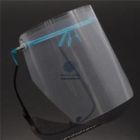 Dental Eyewear Adjustable Detachable Full Face Shield With 10 Detachable Visors Blue Set