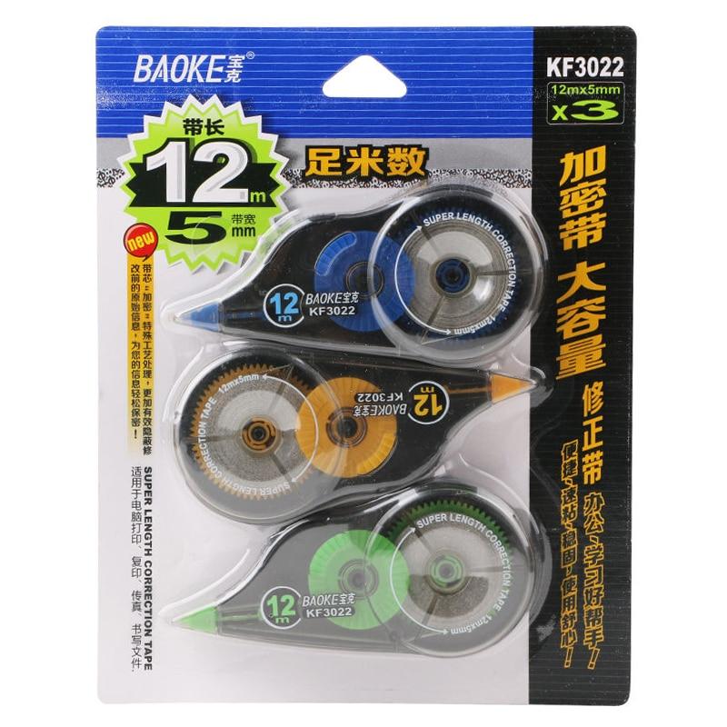 BAOKE KF3022 Large Capacity Correction Belt, 3 *12 Meters, 36 Meters Wide 5mm Encryption Band