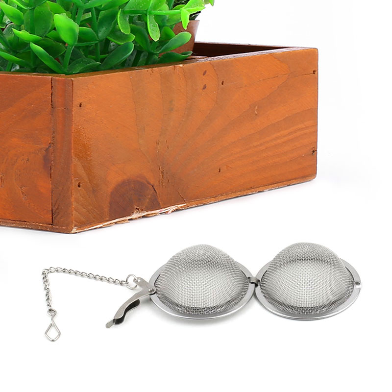 Stainless Steel Tea Seasoning Bags Strainer Locking Spice Egg Shaped Home Office Drop Shipping