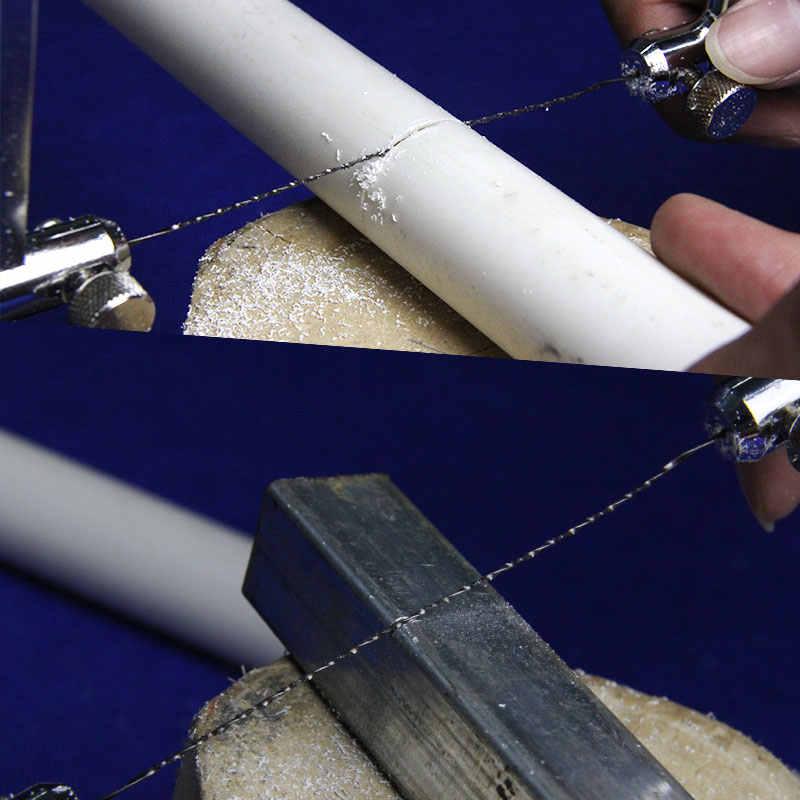 TASP 48 adet 130mm Spiral Kaydırma Testere Bıçakları El Fret Testere Bıçağı testere Ahşap Kesme için