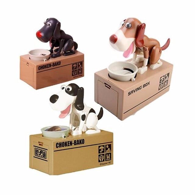 96 Setslot Stealing Coin Money Box Dog Piggy Bank Storage Saving
