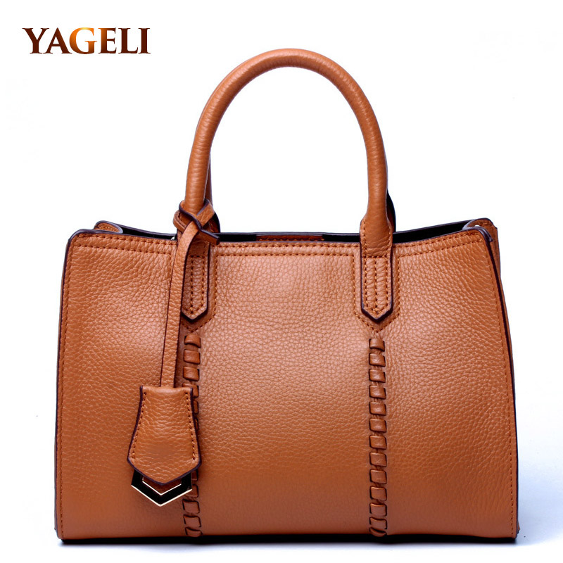 2018 Genuine Leather Women's Handbags Luxury Handbags Women Bags Designer Famous Brands Tote Bag Ladies' sholder messenger bags real genuine leather women s handbags luxury handbags women bags designer famous brands tote bag high quality ladies hand bags