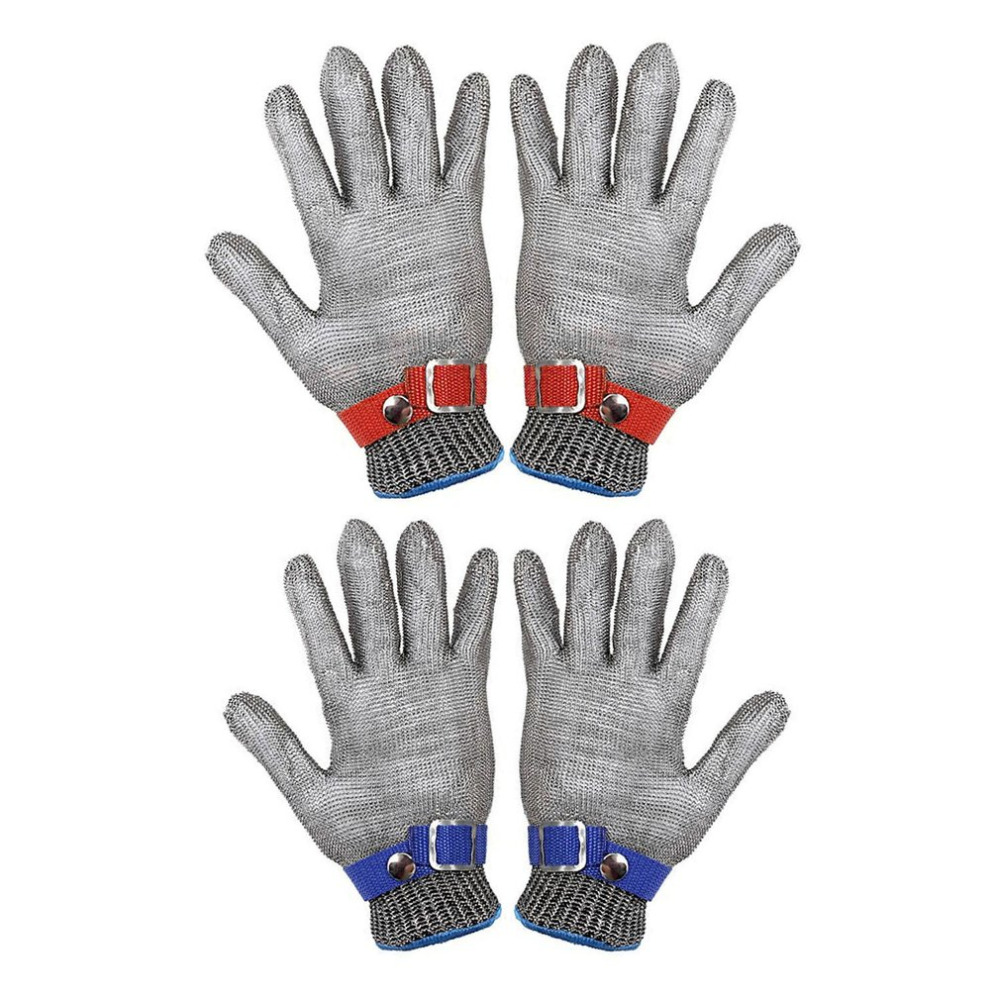 Breathable Comfortable Safety Cut Proof Stab Resistant Stainless Steel Metal Mesh Gloves Anti-cutting Work Gloves 1pcs safety gloves cut proof stab resistant stainless steel wire metal mesh butcher anti knife