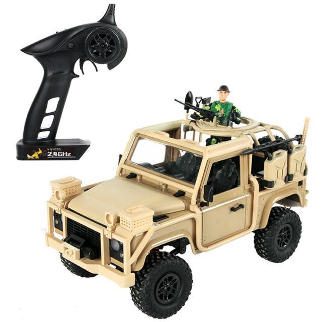 MN 96 RSOV 1/12 2.4G 4WD Crawler RC Car Remote Control Jeep With LED Light