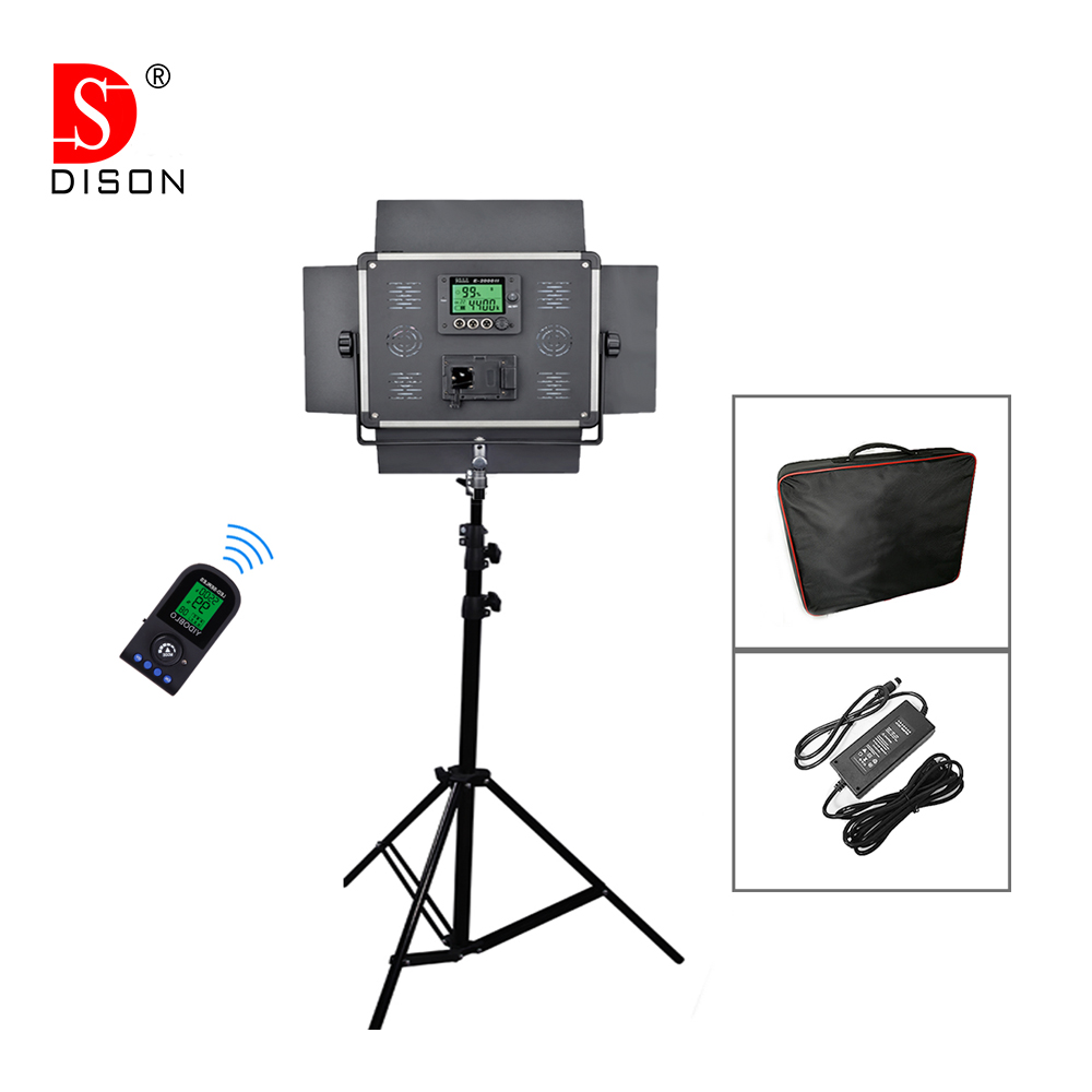 Yidoblo Pro LED Lamp Wireless RC LCD display E-2000II Studio bio-color Photography continue lighting + handbag + tripod set