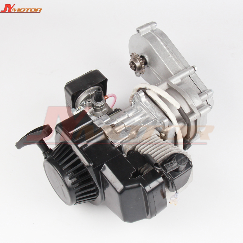 49CC Engine Plastic Pull E Start 13MM Carburetor 2 stroke 47cc 49cc Plastic Mini Moto Pocket ATV Quad Buggy Dirt Pit Bike 44mm cylinder piston spark plug gasket big bore kit for 47cc 49cc 2 stroke mini dirt bike mini atv quad pocket bikes mini moto
