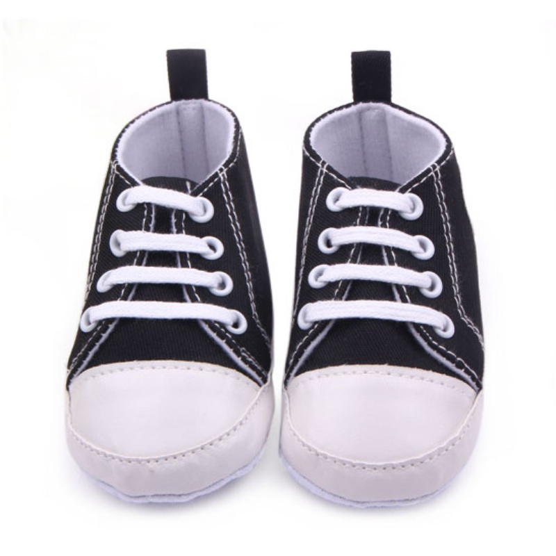 0-12 M Baru Lahir Balita Sepatu Kanvas Bayi Laki-laki Perempuan - Sepatu bayi - Foto 6