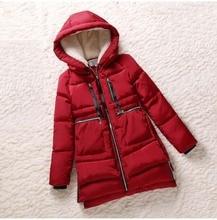 Куртка хлопок, зима женщины ватные красный женское верхняя одежда утолщение свободного покроя пуховик ватные пальто женщины парки BL1128