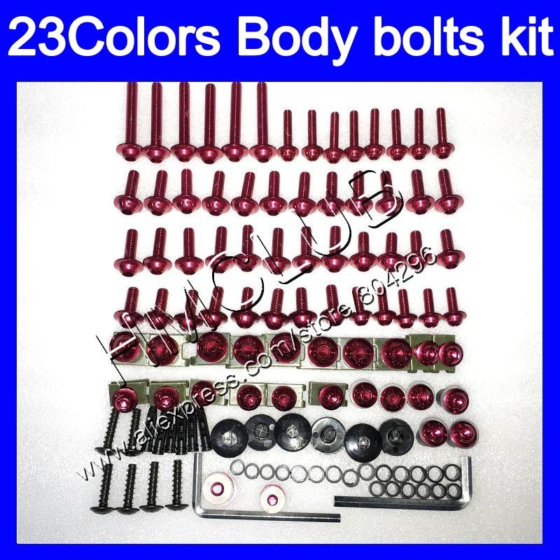 Complete Fairing bolts kit For YAMAHA YZFR1 YZF R1 15 16 17 YZF 1000 YZF1000 YZF R1 2015 2016 2017 Full Body screws Nuts screw