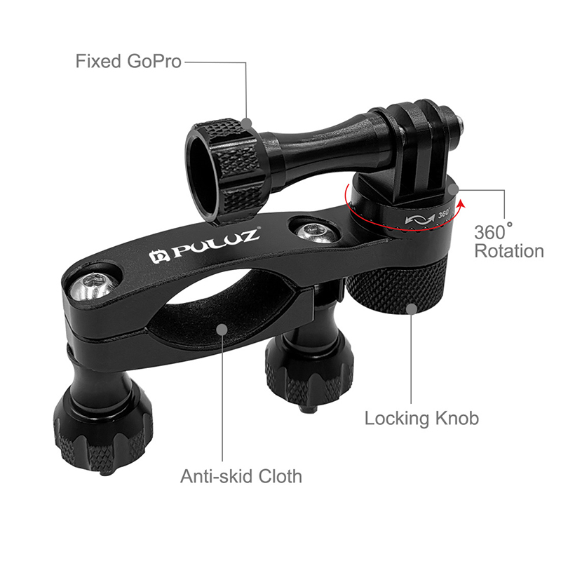 Aluminum Bicycle clamp 360 Degree Rotation Bike Handlebar Adapter Mount & Screw For GoPro Hero 7 6 5 DJI OSMO Action Camera (9)