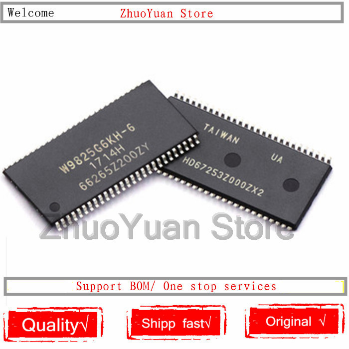 1PCS/lot W9825G6KH-6 W9825G6KH TSOP(II)-54 256Mbit RAM Chip New Original