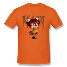 Crazy Trick or Treat Comic T Shirts Designer Short Sleeved Funny Cartoon Tops Anime Print Leisure Tees For Student