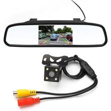 4,3 zoll Auto Rückspiegel Monitor Rückfahrkamera CCD Video Auto Einparkhilfe FÜHRTE Nachtsicht Rückfahr Auto-styling