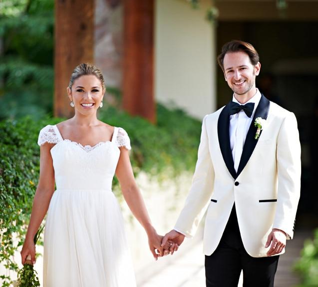 Dernières manteau pantalon conceptions blanc châle revers formel tapis rouge personnalisé costumes de mariage pour hommes Slim Fit marié 2 pièces veste + pantalon