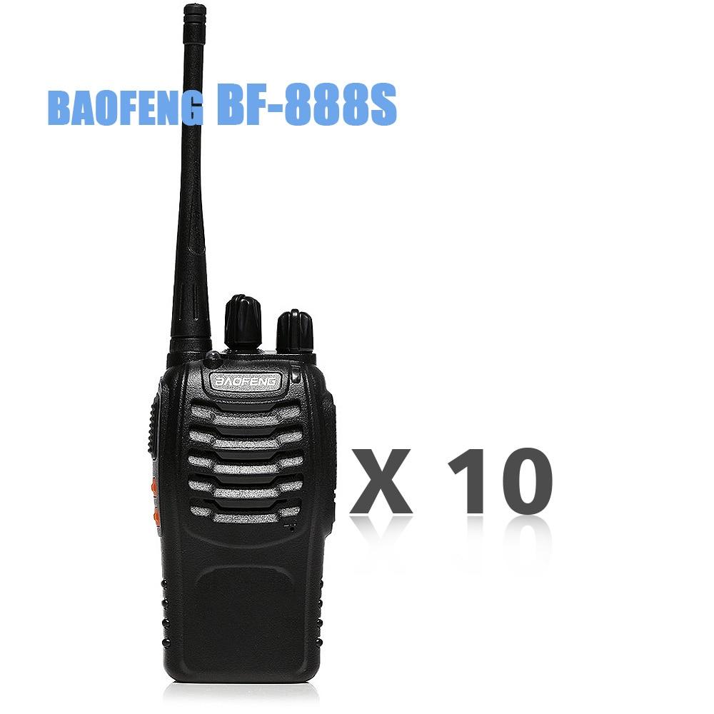 10pcs multifunkčníWalkie Talkie Baofeng bf 888s dvoucestný vysílač Talkie UHF 400-470MHz 16CH CB Frekvenční přenosné rádio