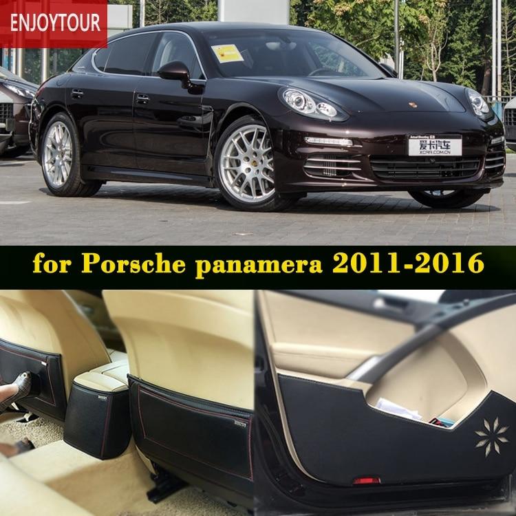 Car pads front rear door Seat Anti kick mat Car styling Accessories For Porsche panamera 4S turbo Executive 2014 2015 2016