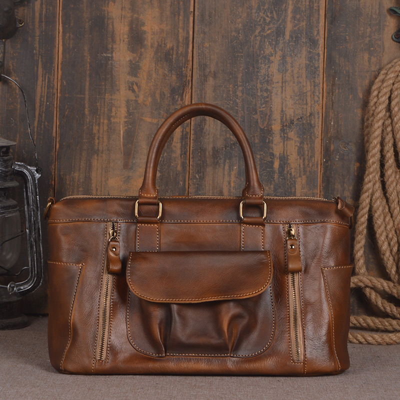 Shoulder Messenger Bags Retro Genuine Leather Lady Female Fashion Women Vintage Style Hand Bag Laptop  Designer Leather Handbag 2017 fashion all match retro split leather women bag top grade small shoulder bags multilayer mini chain women messenger bags