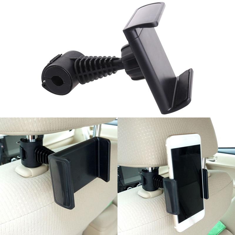 Suporte de telefone para encosto de cabeça de carro, suporte giratório 360 graus para telefone e gps