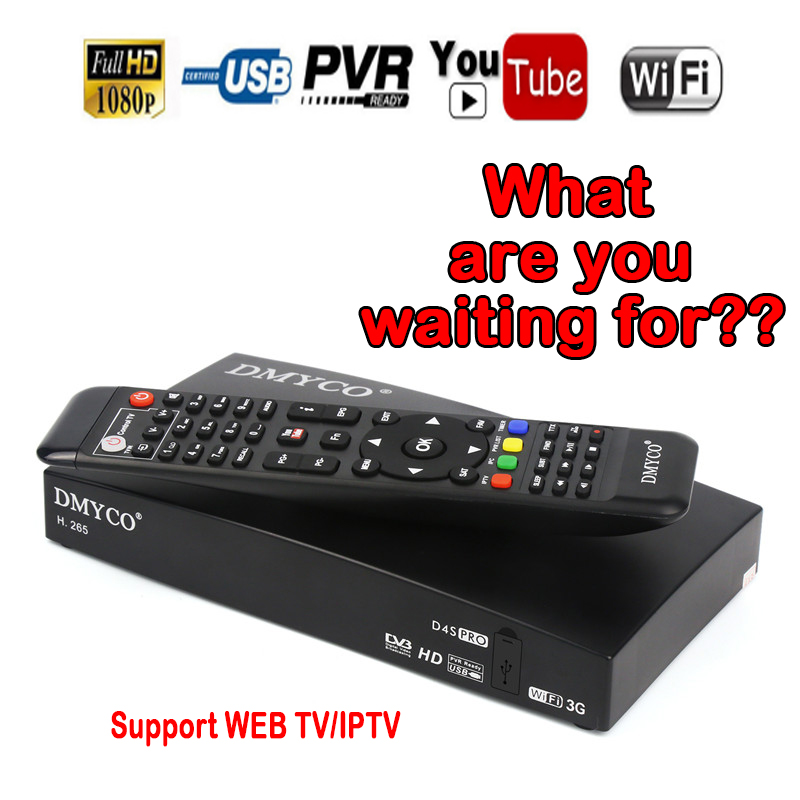 D4SPRO Europe Digital Satellite Tv Receiver HD 1080P Twin Tuner DVB S2 Receptor Cable Biss Youtube 2 LNB port dual tuner in Satellite TV Receiver from Consumer Electronics