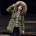Big Real Fur Women Jacket Winter Coat 2016 Raccoon Fur Collar Hooded Long Warm Slim Thick Parkas For Women Jackets and Coats