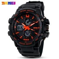 Модные брендовые Детские часы SKMEI светодиодный цифровые кварцевые часы для мальчиков и девочек многофункциональные водонепроницаемые нар...