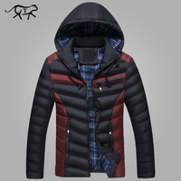 New Arrival Men Jacket Warm Cotton Coat Mens Casual Hooded Jackets Handsome Outdoor Thicking Parka Plus