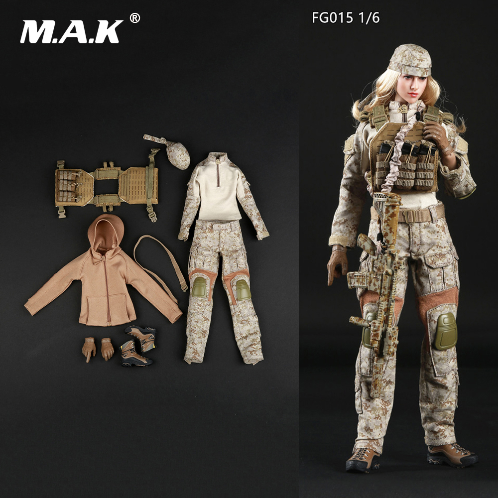 1/6 Scale Female Clothes Set FG015 Tactical Female Shooter Camouflage Suit Costume for 12 inches Action Figure Body 1 6 scale camouflage suit fg015 desert