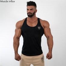 2019 Tank Tops Sleeveless Vest TOP Undershirt casual fitness Mens print Bodybuilding Red gray black