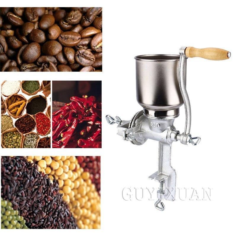Manual Coffee Beans Grinder Food Corn Hand Shake Grinder Stainless Steel Grinder Household Manual Grinding Machine