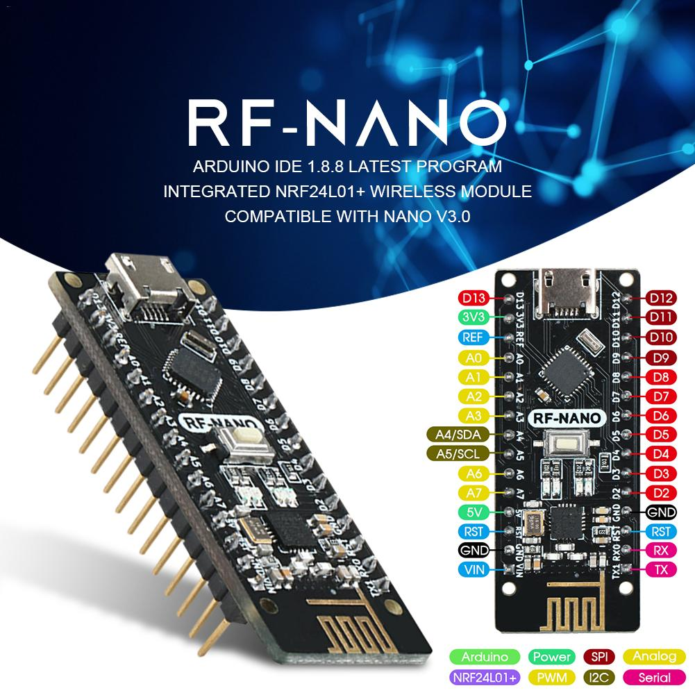 Rf-Nano Integrated-Board V3.0 with Usb-Interface Arwino Nano/V3.0/Nrf24l01/2.4g Wireless-Module title=