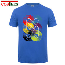 Double infinite Vinyl Records men's t-shirt