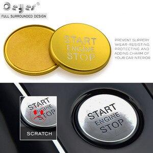 Image 5 - Ceeyes pegatinas de diseño de complemento para el coche, funda con botón de arranque y parada de motor para Audi A6 B8 A6L Q5 8R A4 C7 B9 A7 BT 2018