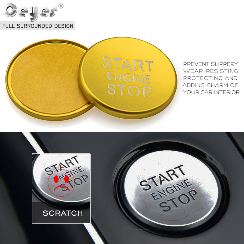 Image 5 - Ceyes Car Styling Sticker Accessories Ring Auto Engine Start Stop Button Cover Case For Audi A6 B8 A6L Q5 8R A4 C7 B9 A7 BT 2018-in Car Stickers from Automobiles & Motorcycles