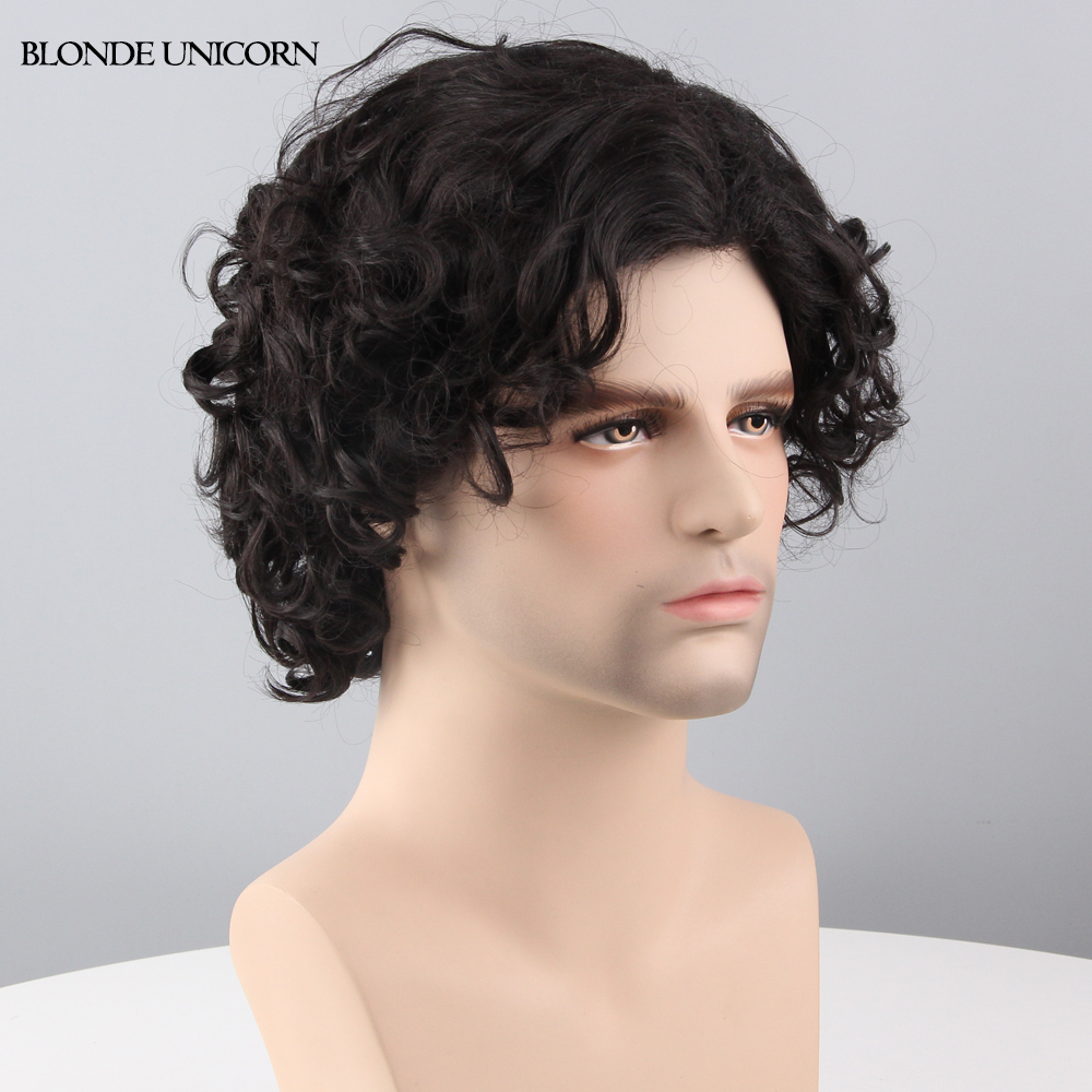 Short Black Mens Wig 87