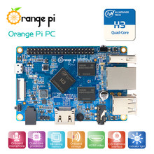 Orange pi pc h3 quad-core 1gb apoio o lubuntu, linux e android mini pc atacado está disponível(China)