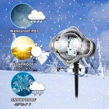 Снежинка Огни Открытый СВЕТОДИОДНЫЙ Лампа Проектора Водонепроницаемый Движущийся Снегопад Свет  Лучший!