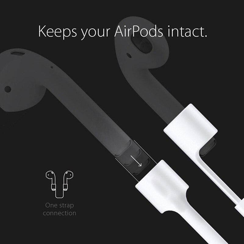 Kartice pour AirPods Sangle, [Nerer perdre votre airpod] iPhone 7/iPhone 7 Plus Air Gousses Bracelet Fil Corde Connecteur pour Apple Airpod