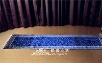 2.5x10feet ручной работы Классическая ковровой дорожкой для прихожей Бегун ковер Шелковый персидский лестнице ковры для коридора коврик tapetes