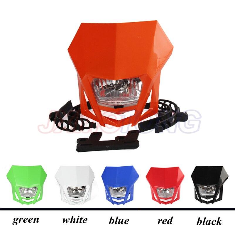 Universal Headlights Headlamp StreetFighter For CR YZ RM KX EXC DR Husaberg Husky Gas Gas CRF YZF WRF KXF KLX RMZ RMX DRZ Black jcmoto new for kawasaki klx 110 drz 110 kx 65 plastic body kits red motor covers free shipping tc078 hhy