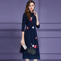 Осень в стиле ретро низ Обёрточная бумага Улучшенная платье чонсам