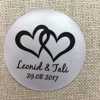 3cm custom 100 pcs Personalized Matt PVC Sticker Free design Birthday baby shower Wedding Invitation Envelope Logo Stickers Gift