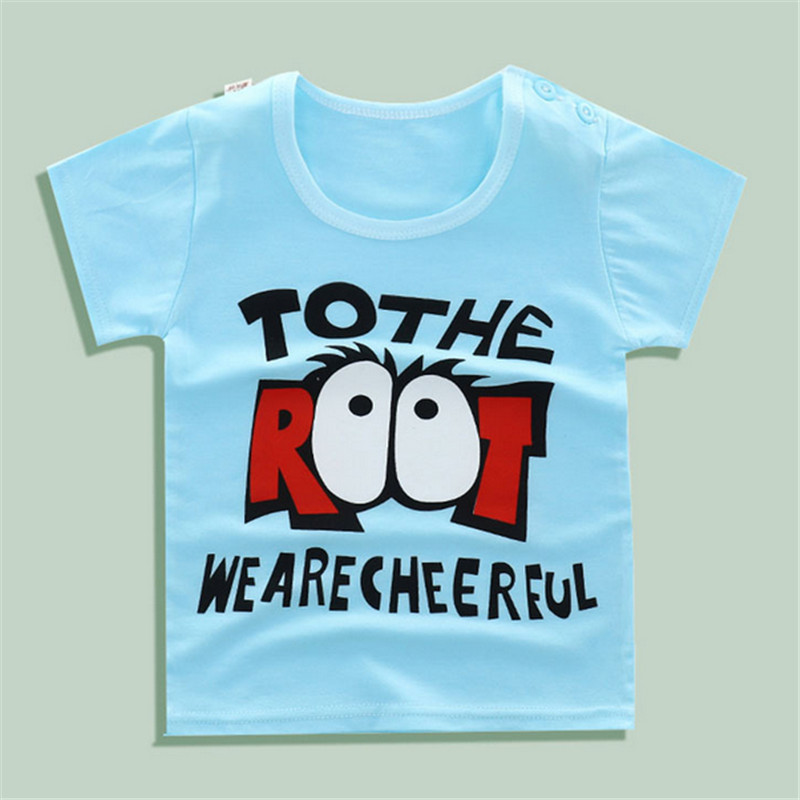 Kids Cotton Tops Short Sleeve Clothes Baby Child Summer TShirts Boys Girls Cotton Solid Animal Lrtters Clothing Tee Shirt 6-5T