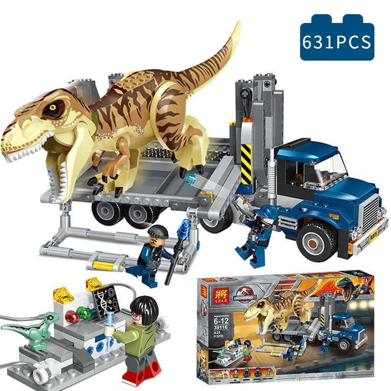 العالم الجوراسي بارك أرقام كتل Indominus دمى الديناصور ريكس الديناصور متوافق 75933 الجوراسي للأطفال