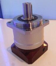 8 arcmin tandwielkasten planetaire reducer versnellingsbak 15:1 100:1 voor nema34 750 W AC servo motor input as 16mm