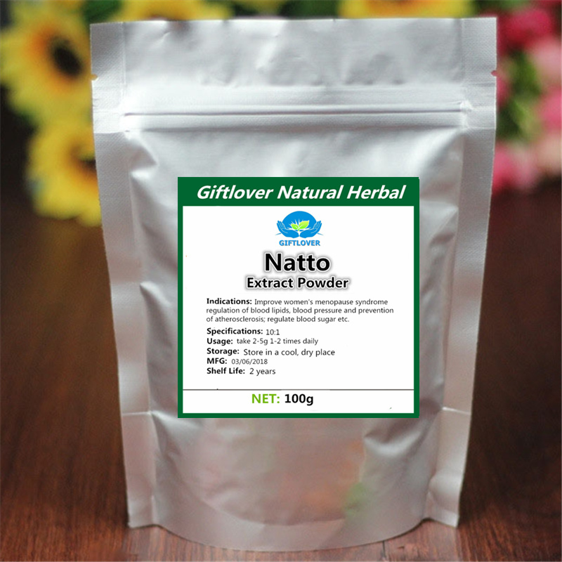 100% Pure Natto 10:1 Extract Powder nattokinase Nutritional Supplement high quality Free shipping все цены
