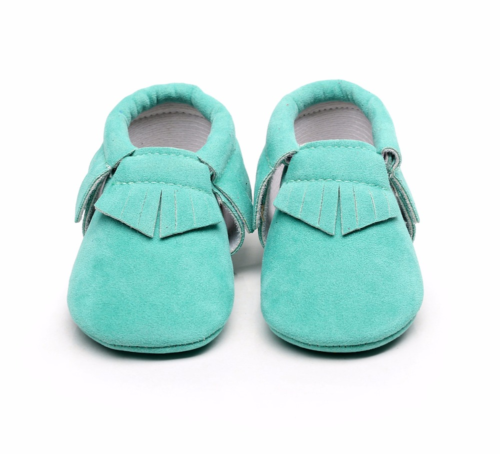Hot Spring Summer PU Suede Leather Newborn Baby Boy Girl Baby Soft Moccs Shoes Fringe Soft Soled Non-slip Footwear Crib Shoes