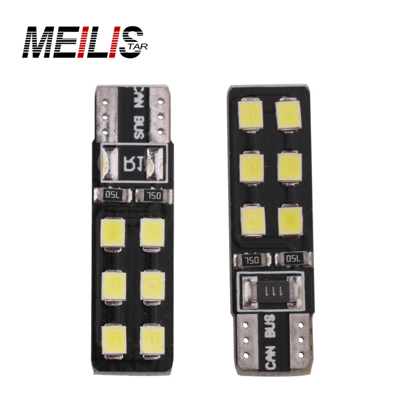 1x Car led Big Promotion Canbus Error Free T10 194 501 W5W 12 SMD LED High Power Car Auto Wedge Lights Parking Bulb Lamp DC12V car led 1pcs t10 194 w5w dc 12v canbus 6smd 5050 silicone shell led lights bulb no error led parking fog light auto car styling