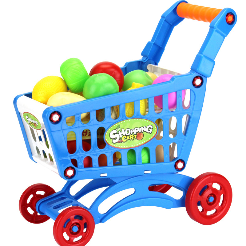 DIY assembly mini Shopping cart girl child simulation supermarket trolley mini baby 1 3 years old in Groceries Toys from Toys Hobbies